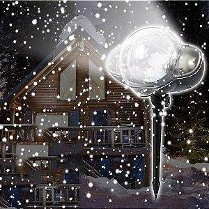Projetor Led Frozen de Neve, Nevando