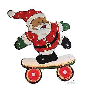 Painel Papai Noel Iluminado Enfeite Led Natal