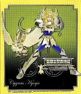 CAVALEIROS ZODIACOS HYOGA DE CISNE V1 GOLD DOURADO 1.0 CLOTH MYTH BANDAI LACRADO ***
