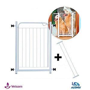 Portão De Segurança Açomix 70 X 80 Com Extensor 10 Cm