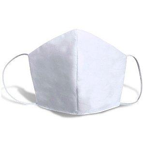 Kit 10 Máscaras de Tecido Lavável Branca com Dupla Proteção