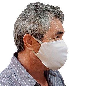 Máscara de Tecido Lavável Branca com Dupla Proteção
