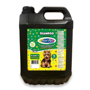 Shampoo 4 em 1 Citronela Plast Pet 5L
