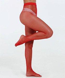 Meia Calça Arrastão Daniela Vermelha