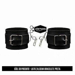 Algema Bracelete Courino Preto