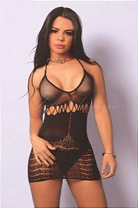 Vestido Arrastão (y6031)
