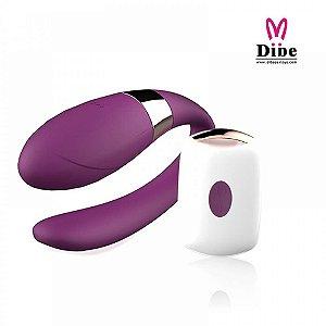 Vibrador para casais com controle wireless - Recarregável ( DB056 )