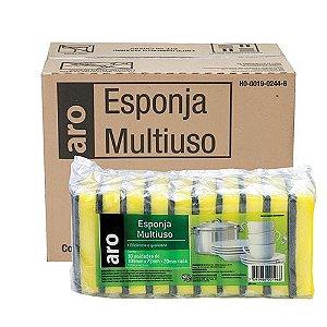 ESPONJA MULTIUSO ARO PACOTE - 10 UNIDADES