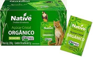 SACHE ACUCAR CRISTAL ORGANICO NATIVE 50X5G