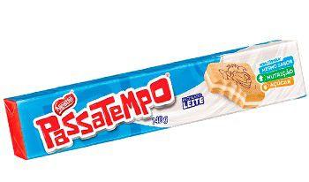 BISCOITO RECHEADO PASSATEMPO LEITE 130G