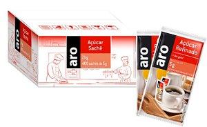 SACHE ACUCAR REFINADO ARO 400X5G