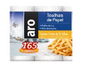 TOALHA DE PAPEL ARO 3X55F