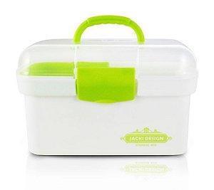 Jacki Design Caixa Organizadora Transparente Cor Verde