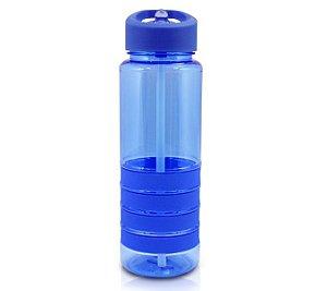 Jacki Design Garrafa Squeeze Com Canudo Retrátil Cor Azul