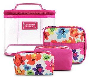 Jacki Design Kit De Necessaire De 4 Peças Cor Pink