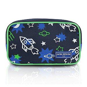 Jacki Design Necessaire E Estojo Foguete Cor Azul E Verde