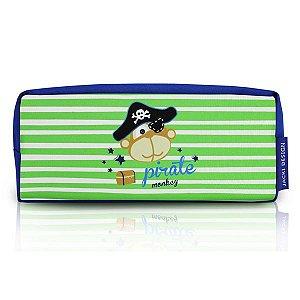 Jacki Design Necessaire E Estojo Macaco Cor Azul E Verde