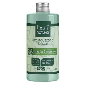 Boni Natural Enxaguante Bucal Menta e Melaleuca 500ml