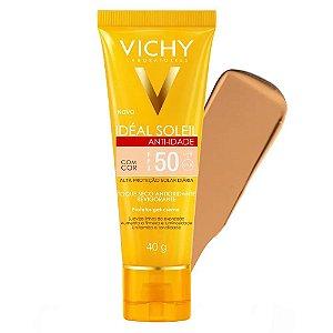 Vichy Ideal Soleil Anti-idade com cor FPS50 40g