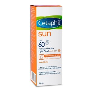 Cetaphil Protetor Solar Sun Light Fluid com Cor FPS60 50ml