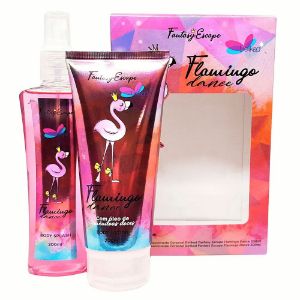Delikad Kit Fantasy Escape Flamingo Dance Feminino Loção Corporal + Body Splash 200ml