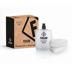 Forum Kit Classic Jeans Deo Colonia Perfume Unissex 100ml e Sabonete 2x90g