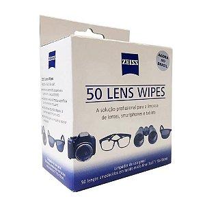 Zeiss Lens Wipes com 50 Lenços Umedecidos