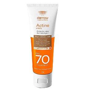 Darrow Protetor Solar Actine Colors Pele Morena Mais FPS 70 Toque Seco 40g
