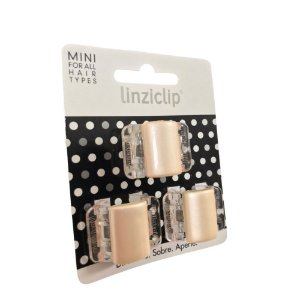 Linziclip Kit Presilhas de Cabelo com 3 Peças Bronze