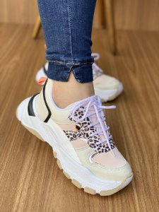 Tênis Sneaker Off White/Onça S5450