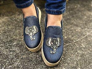 Slip On Jeans Strass Elefante