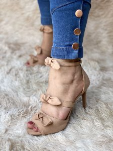 Sandália Três Laços Nude