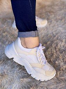 Tênis Sneaker Branco/Marfim