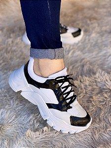 Tênis Sneaker Branco/Preto