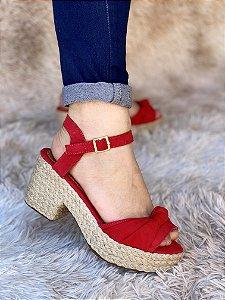 Sandália Vermelho Nó