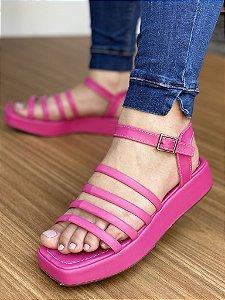 Sandália Tiras Pink