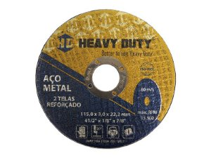Disco de Corte de Ferro 115 X 3,0 X 22,2 mm - Heavy Duty