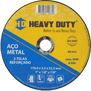 Disco de Corte Multimaterial  178 x 1,6 x 22,2 mm Heavy Duty