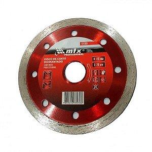 Disco de Corte Diamantado Contínuo Corte Molhado 110 x 20mm Mtx