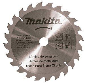 Disco de Serra Com Dentes de Metal 185 x 20x 16 24D Makita