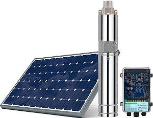 Kit Bomba Solar ZM 120w 24 a 50v entrada painel solar e bateria altura máx 40 metros + kit acessórios 760 litros hora com painel 330w