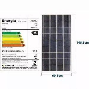 Módulo / painel / placa Solar Fotovoltaica 150 w RESUN Policristalino