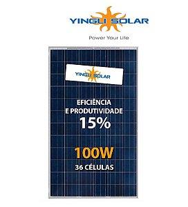 Módulo / painel / placa Solar Fotovoltaica 100w  12v Yingli Policristalino