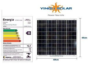 Módulo / painel / placa Solar Fotovoltaica 60 w  12v Yingli Policristalino