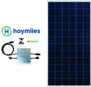 Kit Hoymiles 500 Painel Solar 2x 330w Microinversor 220v