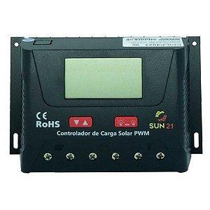 Controlador De Carga Solar 12v 24v Pwm 60A SUN21