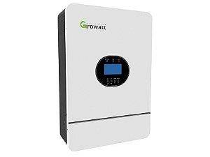 Inversor Offgrid Growatt 5000w 5k Entrada 48V Saída 220V Senoidal SPF SPF 5KTHVM CARREGADOR 5.5KW Controlador MPPT