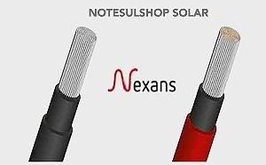 PAR Cabo fotovoltaico Solar 6mm - NEXANS - Cobertura resistente (100 METROS) sendo 50m cada cor
