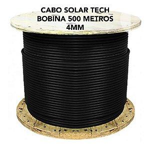 Cabo fotovoltaico Solar 4mm - SOLAR TECH - PRETO - Bobina 500 metros