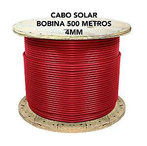 Cabo fotovoltaico Solar 4mm - CONDUTEC - VERMELHO - Bobina 500 metros
